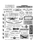 CMS225 Stampers Anonymous Tim Holtz Cling Mounted Stamp Set - Correspondence